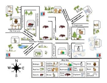 Zoo Map Pack By First Grade Fanatics Teachers Pay Teachers