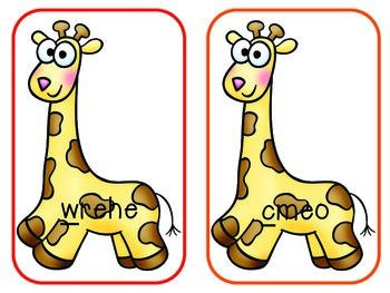 Zoo Math & Literacy Centers