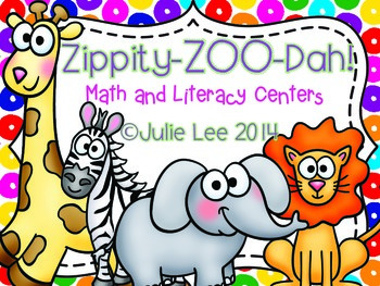 Zoo Math & Literacy Centers