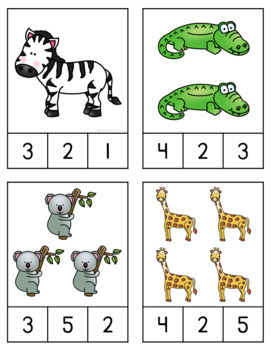 Zoo Math & Literacy Centers for Pre-K and Kindergarten {BUNDLE}