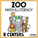 Zoo Centers: Math & Literacy Activities for Pre-K & Kindergarten BUNDLE