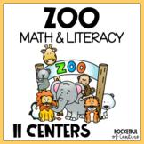 Zoo Centers: Math & Literacy Activities for Pre-K & Kindergarten BUNDLE