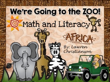 Zoo Math and Literacy (20 Stations for First Grade)