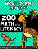 Zoo Math and Literacy No Prep First Grade Pack
