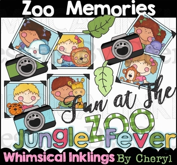 Zoo Memories Clipart Collection By Whimsical Inklings Tpt