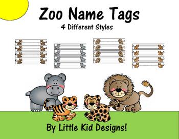 zoo name tags by little kid designs teachers pay teachers