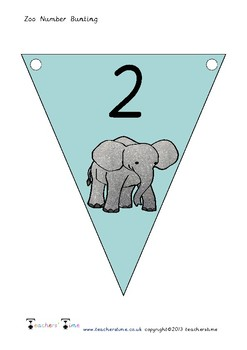 Zoo Number Bunting to 10