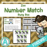 Zoo Number Matching Busy Box **FREEBIE**