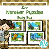 Zoo Number Puzzles Busy Box