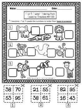 Zoo Number Sense Freebie