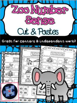 Zoo Number Sense Cut/ Pastes