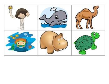 Zoo & Ocean Animal Memory Game