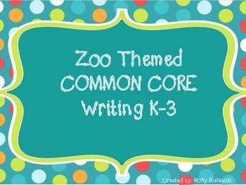 Zoo Opinion Writing Bundle {Color and B&W}