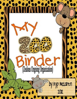 Zoo Organizational Binder Set
