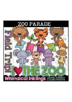 Zoo Parade Clipart Collection