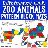 Zoo Pattern Block Mats - 2D Shapes Sample Pack for Prescho