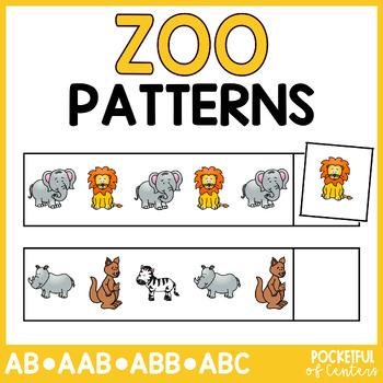 Zoo Pattern Cards {AB, ABC, ABB, AAB}