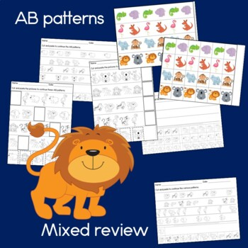 Zoo Animals Pattern Math Center with AB, ABC, AAB & ABB ...