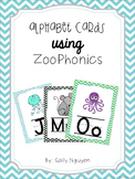 Zoo Animal Phonics Alphabet Cards Chevron
