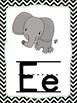 Zoo Phonics Alphabet Cards Chevron