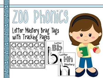 Zoo Phonics Alphabet Letter Mastery Brag Tags