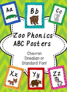 Zoo Phonics Alphabet Posters- Chevron