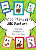 Zoo Phonics Alphabet Posters- Chevron