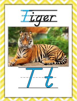Zoo Phonics Alphabet Posters {D'Nealian Font}