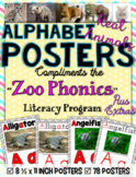 Zoo Phonics Alphabet Posters - REAL ANIMAL PICS {Zaner Bloser Font}