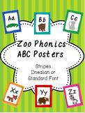 Zoo Phonics Alphabet Posters-Stripes