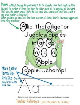 Zoo Phonics Alphabet Sounds Teaching Posters - A-Z