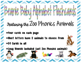 Zoo Phonics Alphabet Flashcards {Beanie Babies}