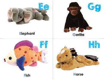 Zoo Phonics Alphabet Flashcards {Beanie Babies}