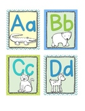 Zoo Animal Phonics COLOR Word Wall labels & Flashcards