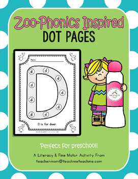Zoo Phonics - Dot Pages
