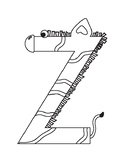 Inspired by Zoo Phonics, Letter of the Day: Z is for Zebra