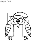Inspired by Zoo Phonics, Letter of the Day: N is for Night Owl