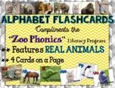Zoo Phonics REAL Animal Images - Flashcards