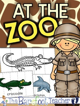 Zoo Picture Puzzles - Black/White & Colorful