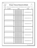 Zoo Place Value Record Sheet