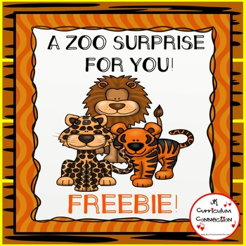 Zoo Poem/Song Wild Cats FREEBIE