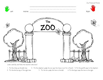Zoo Postional Words