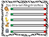 Zoo Pre-Writing/Letter Match