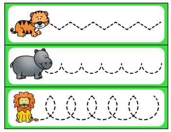 Zoo Pre-Writing Practice