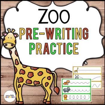 Zoo Pre-Writing Practice