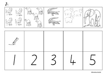 Zoo Prek Kindergarten Syllables,beginning sounds, counting cut and paste,dot/dab