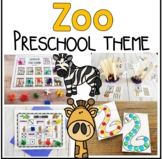 Zoo Math and Literacy Centers for Preschool, PreK, and Kinder