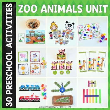Zoo Theme Preschool and Kindergarten Learning Materials