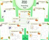 Zoo Prewriting Practice Pack
