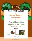 Zoo Printables for Autism & Special Education Support Classrooms